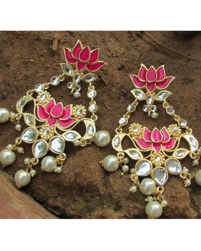 Red Lotus Earring