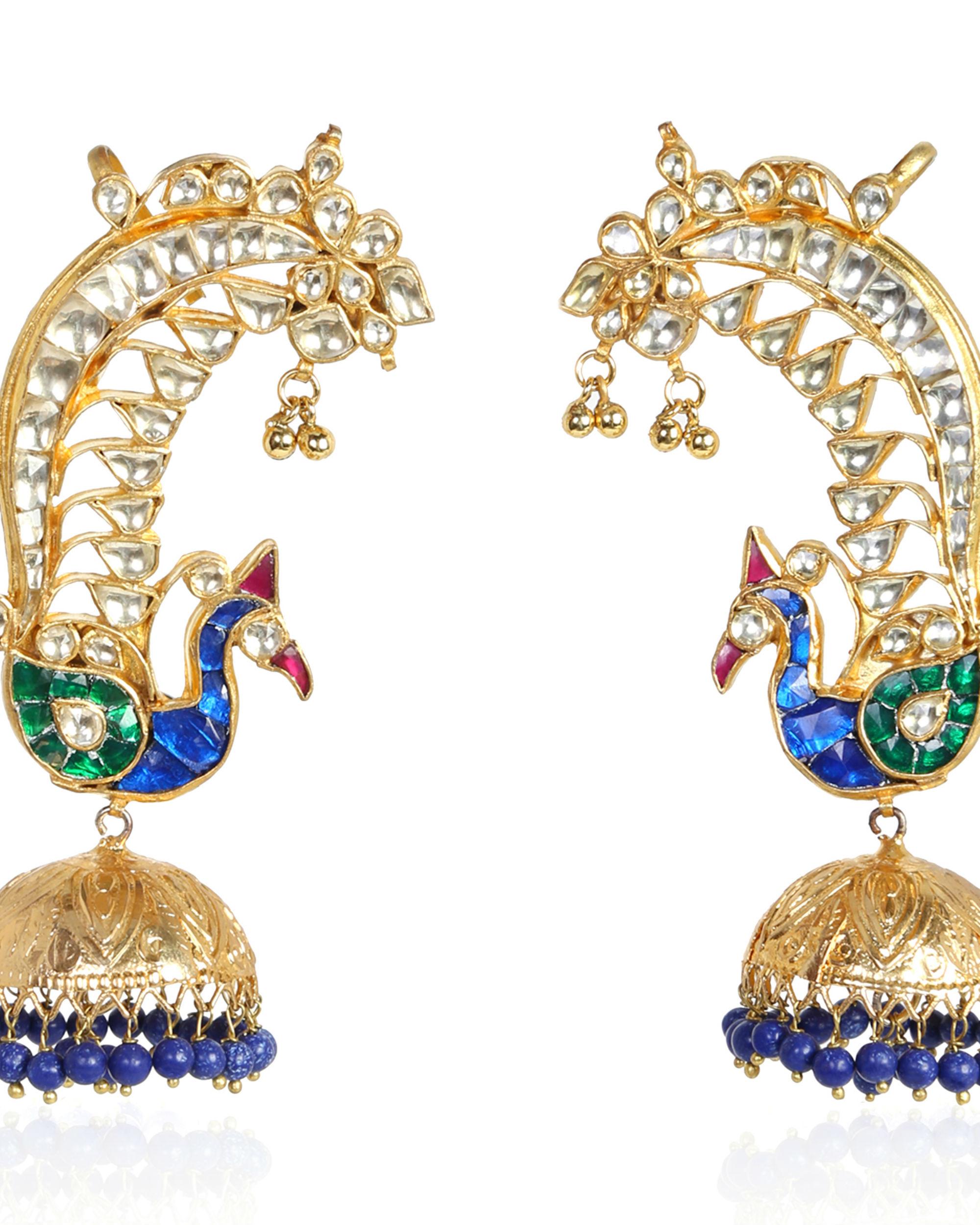 Mayuri Dancing Peacock Jhumkas