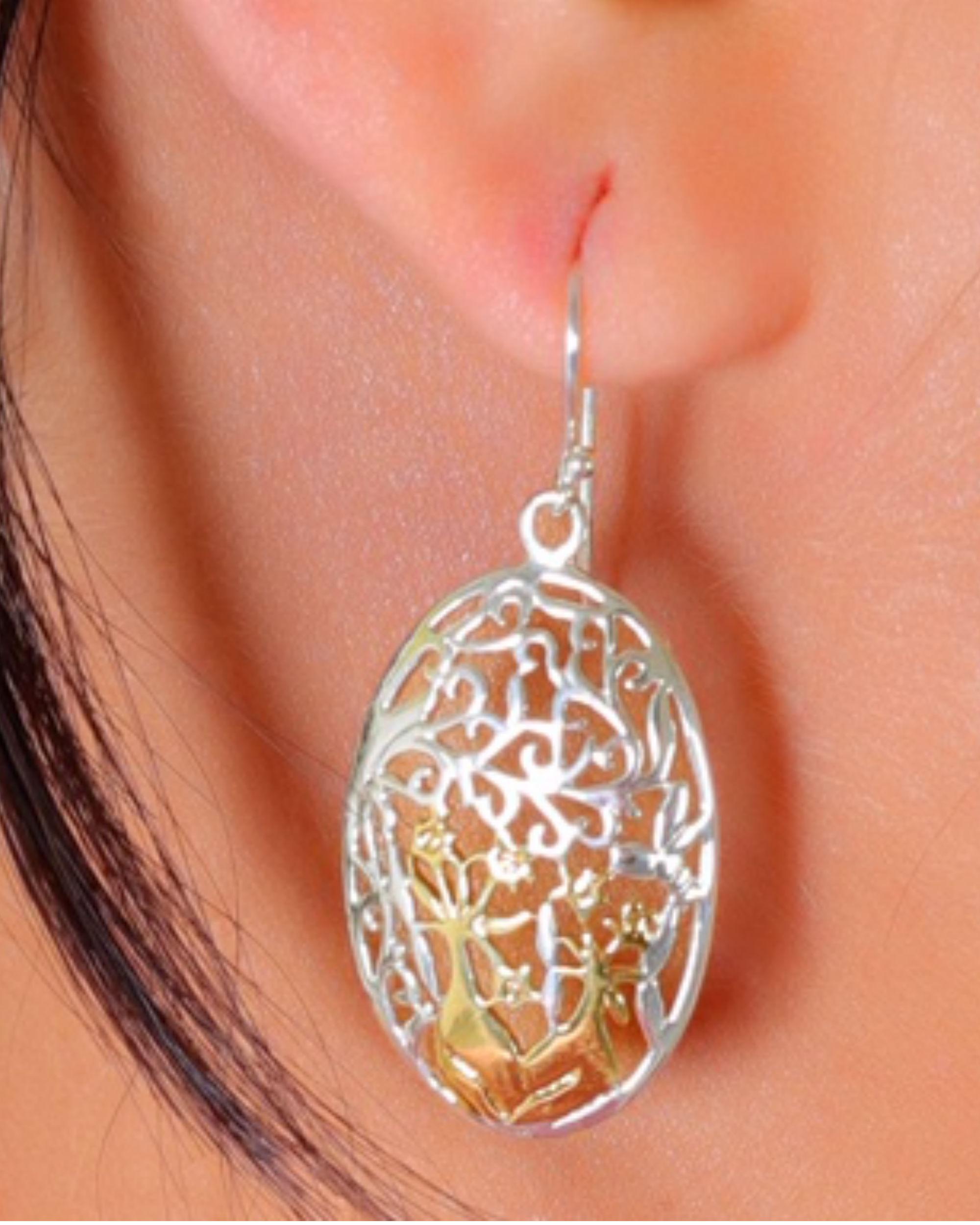 Oval jaal earrings