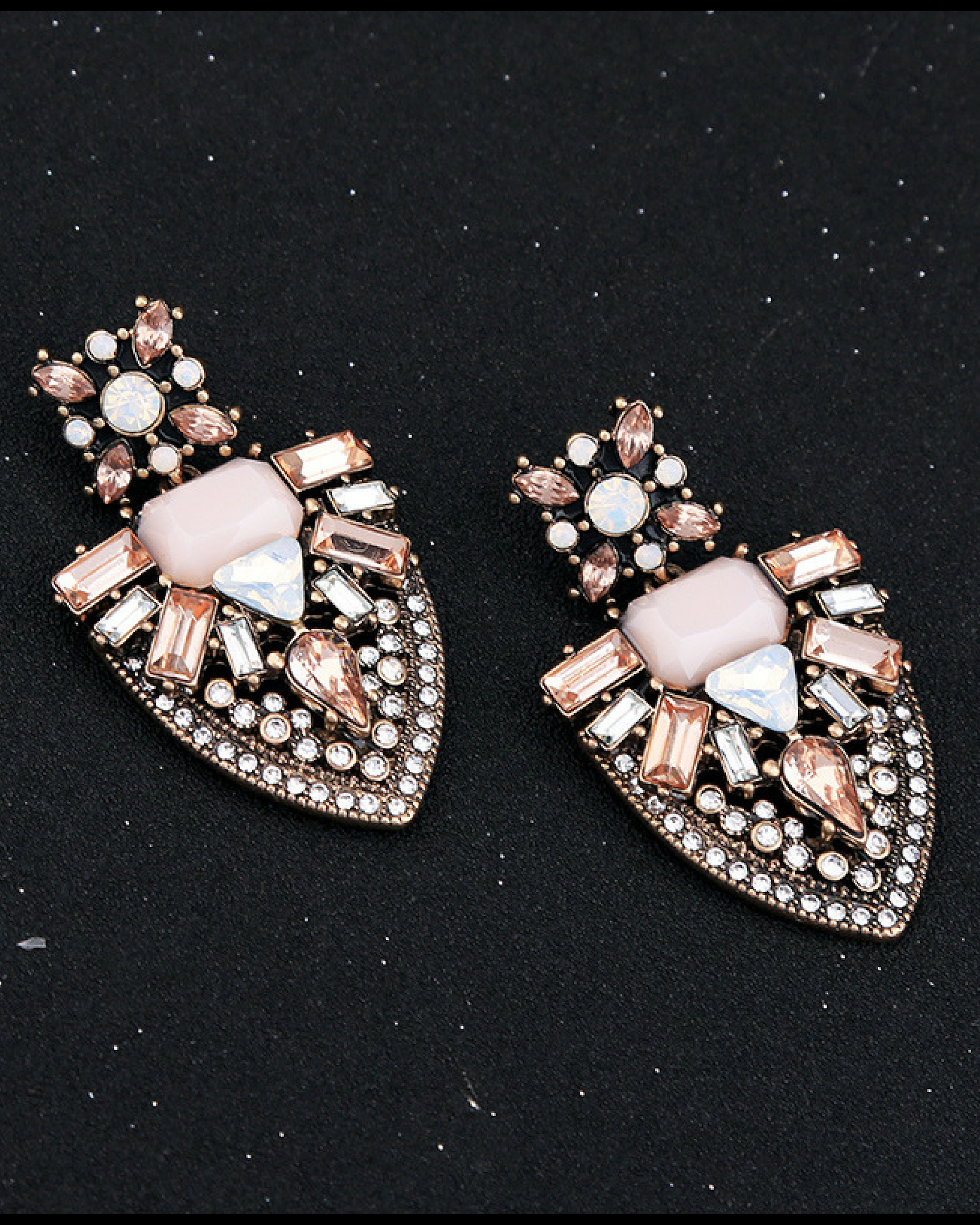 Blush geometric earrings