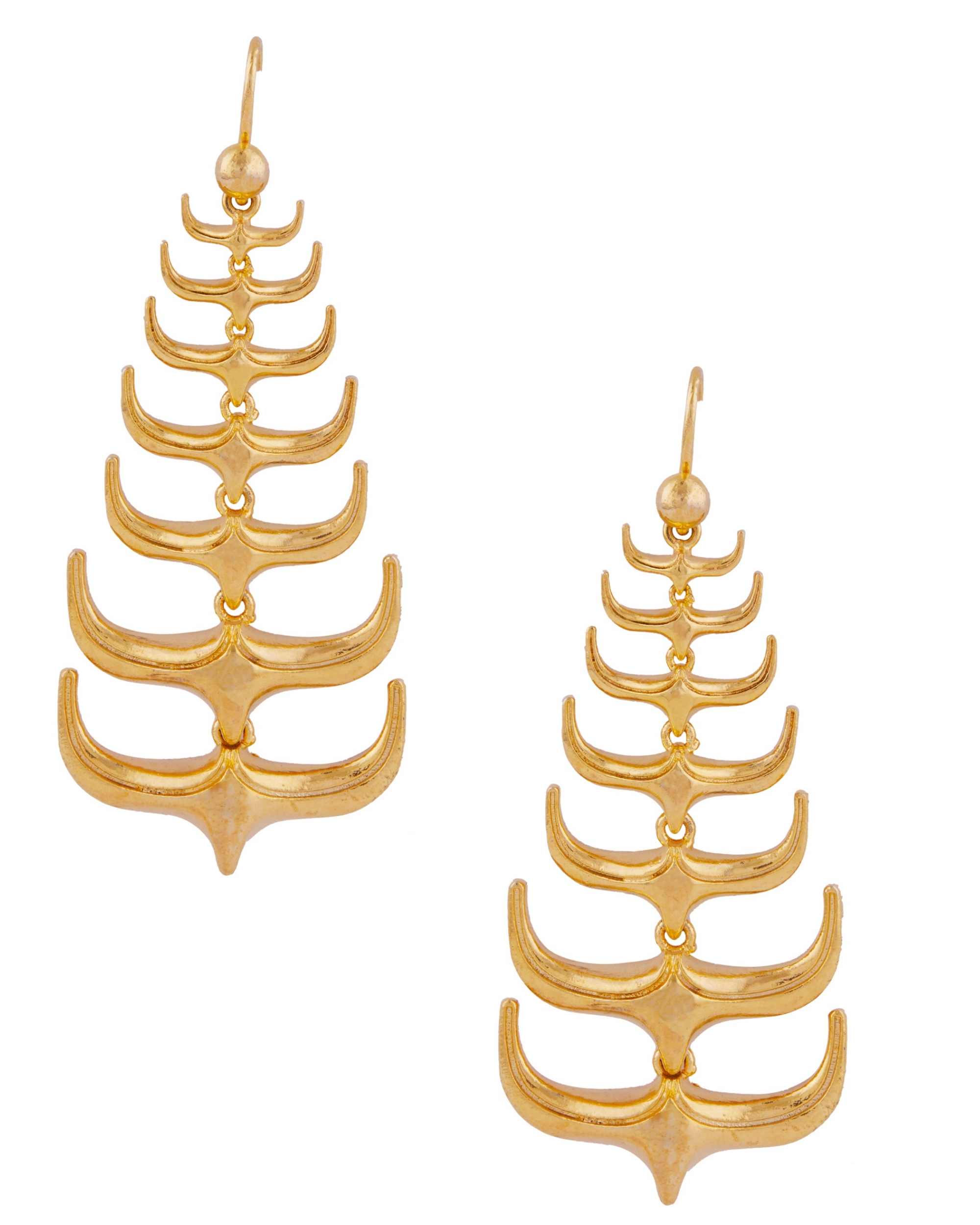 Trendy spikes hanging earrings