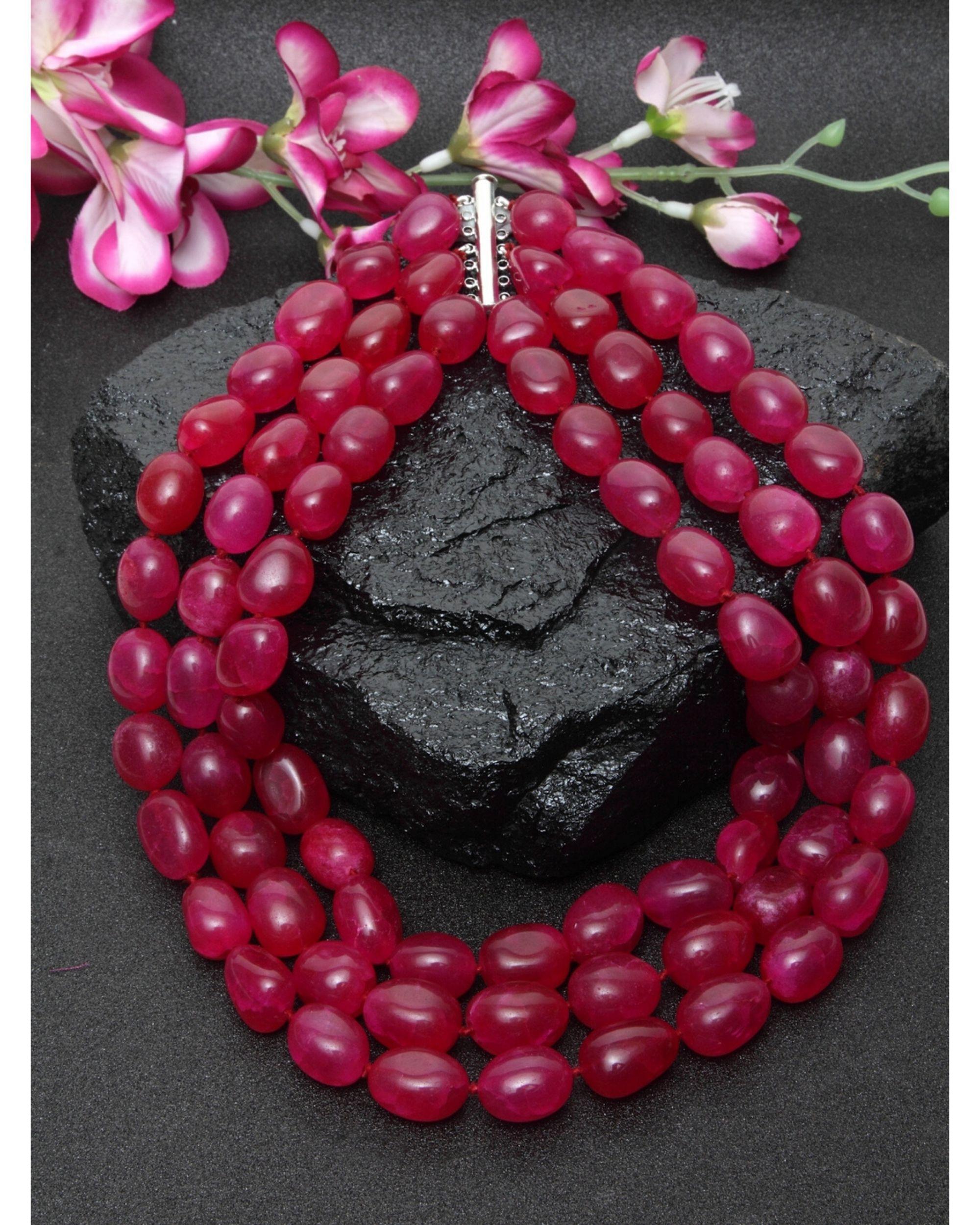 Red ruby layered neckpiece
