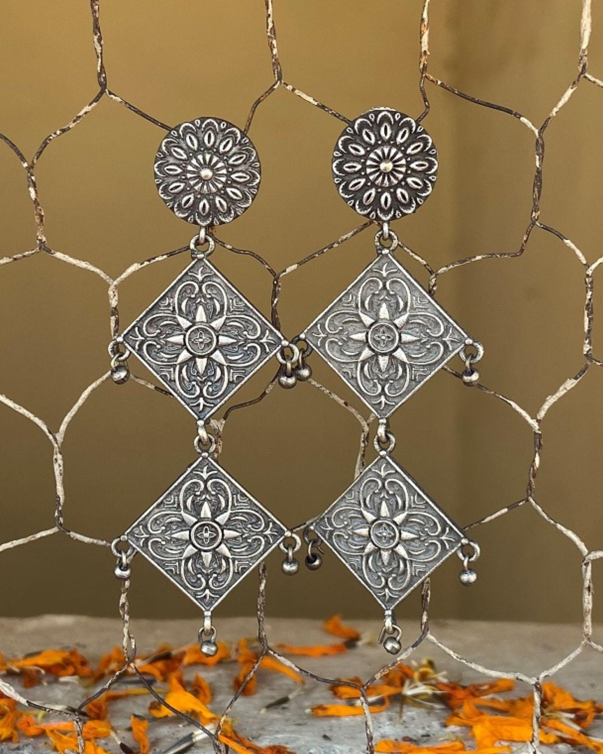 Tribal geometric earrings