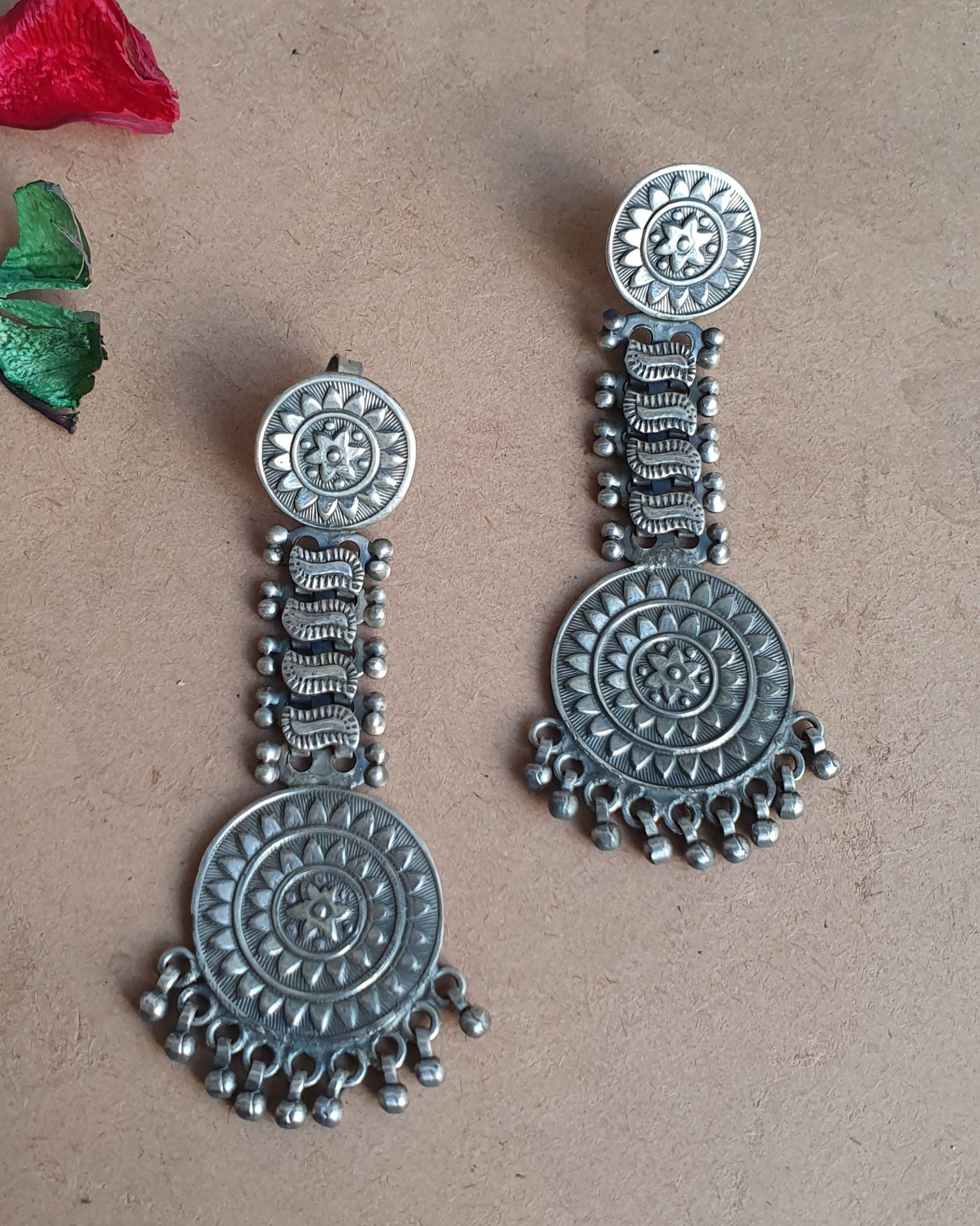 Chakra long earrings