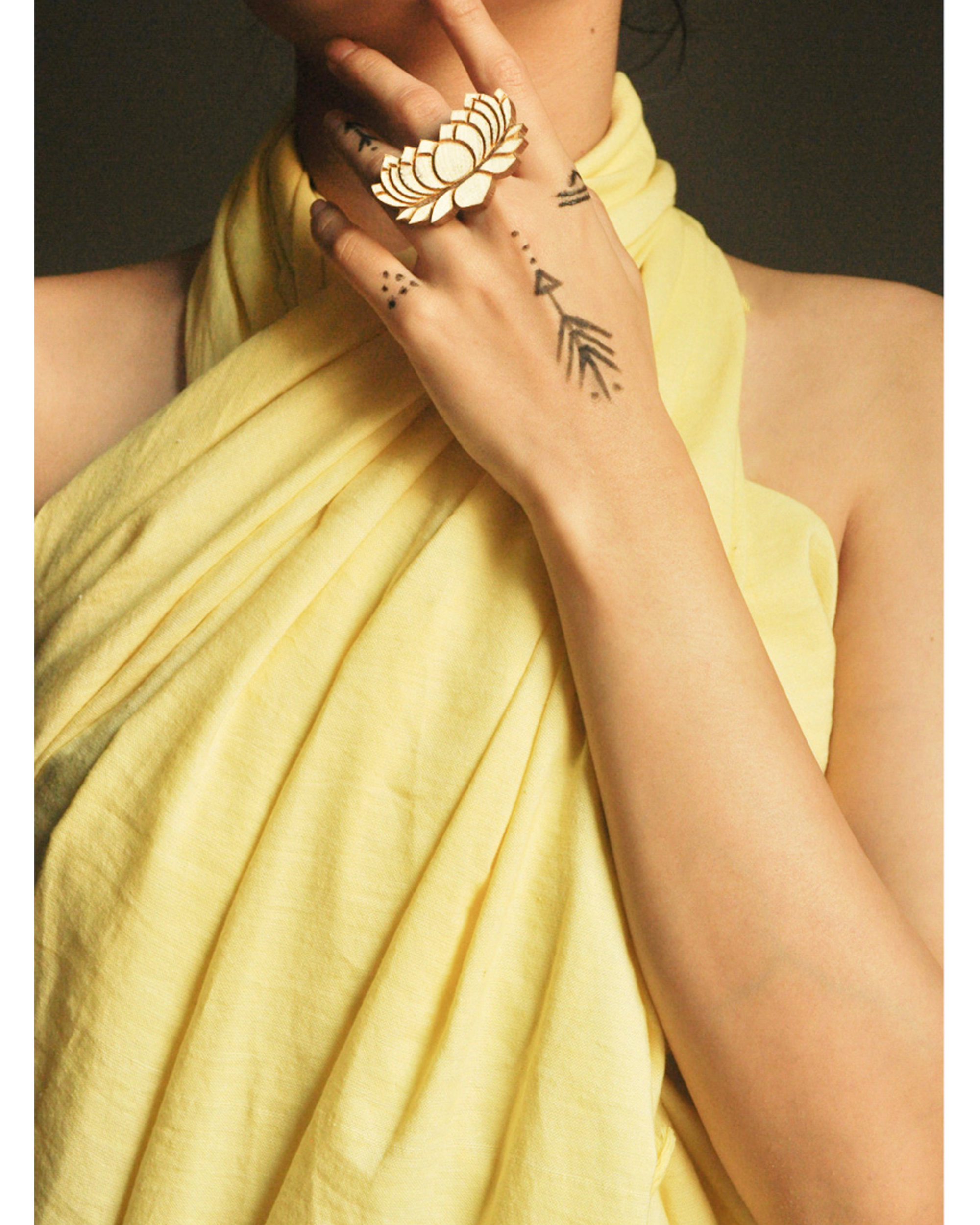 Lotus handcrafted ring