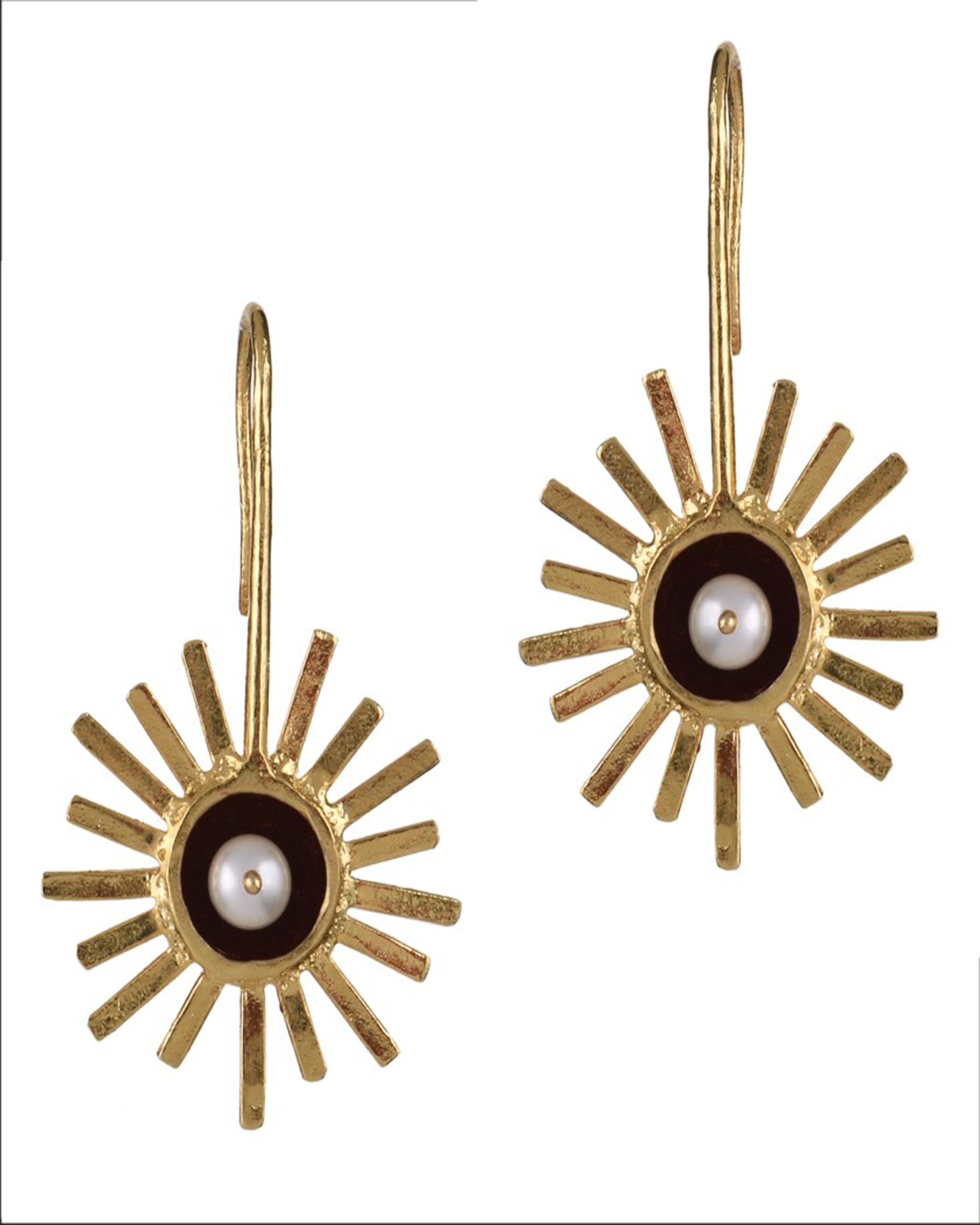 Konark Sunburst Earrings