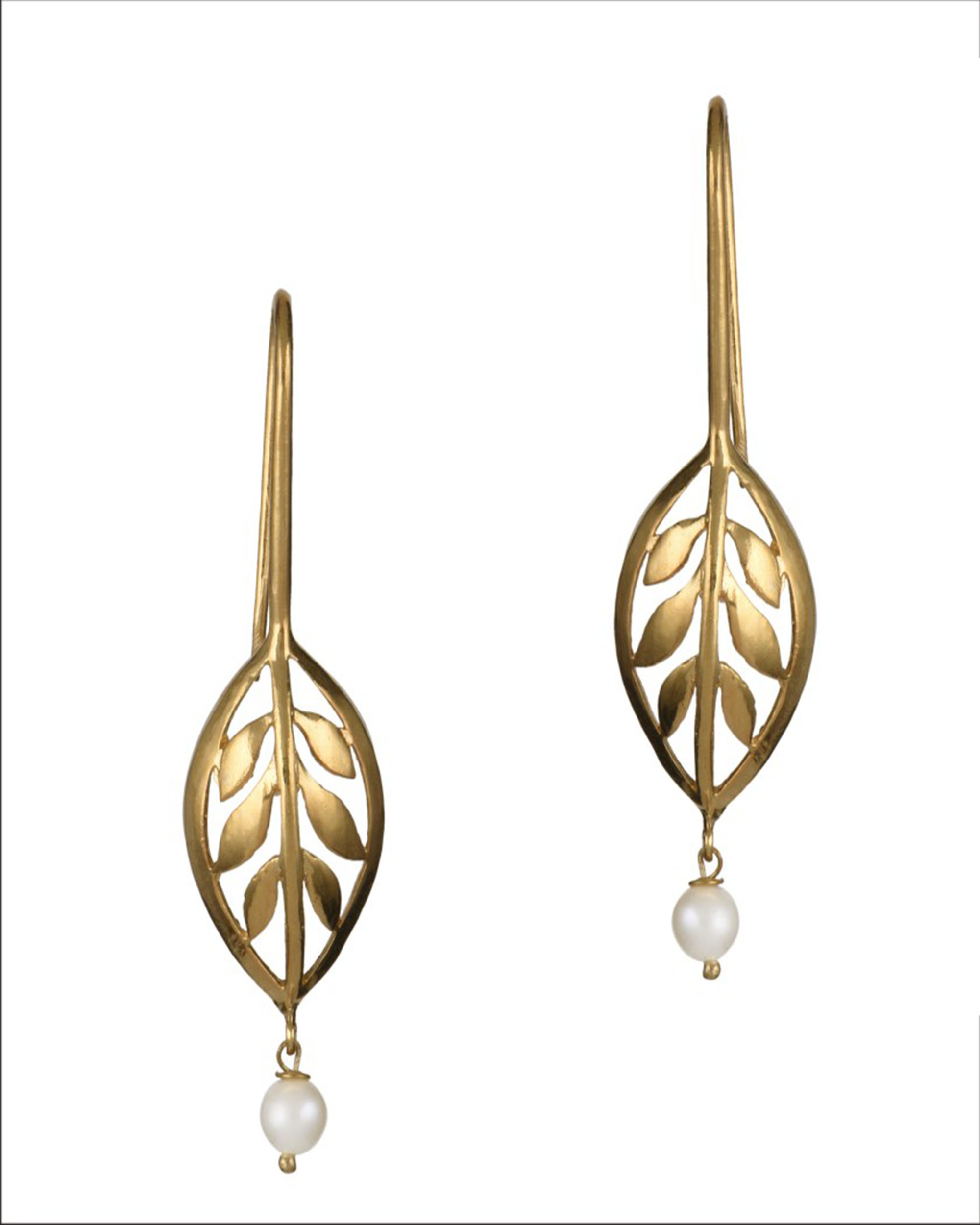 Basil Leaf Hook Earrings