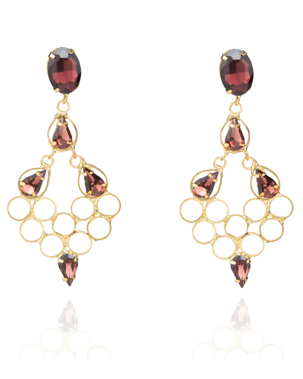 Crystal crafted Honeycomb Embellished Earrings