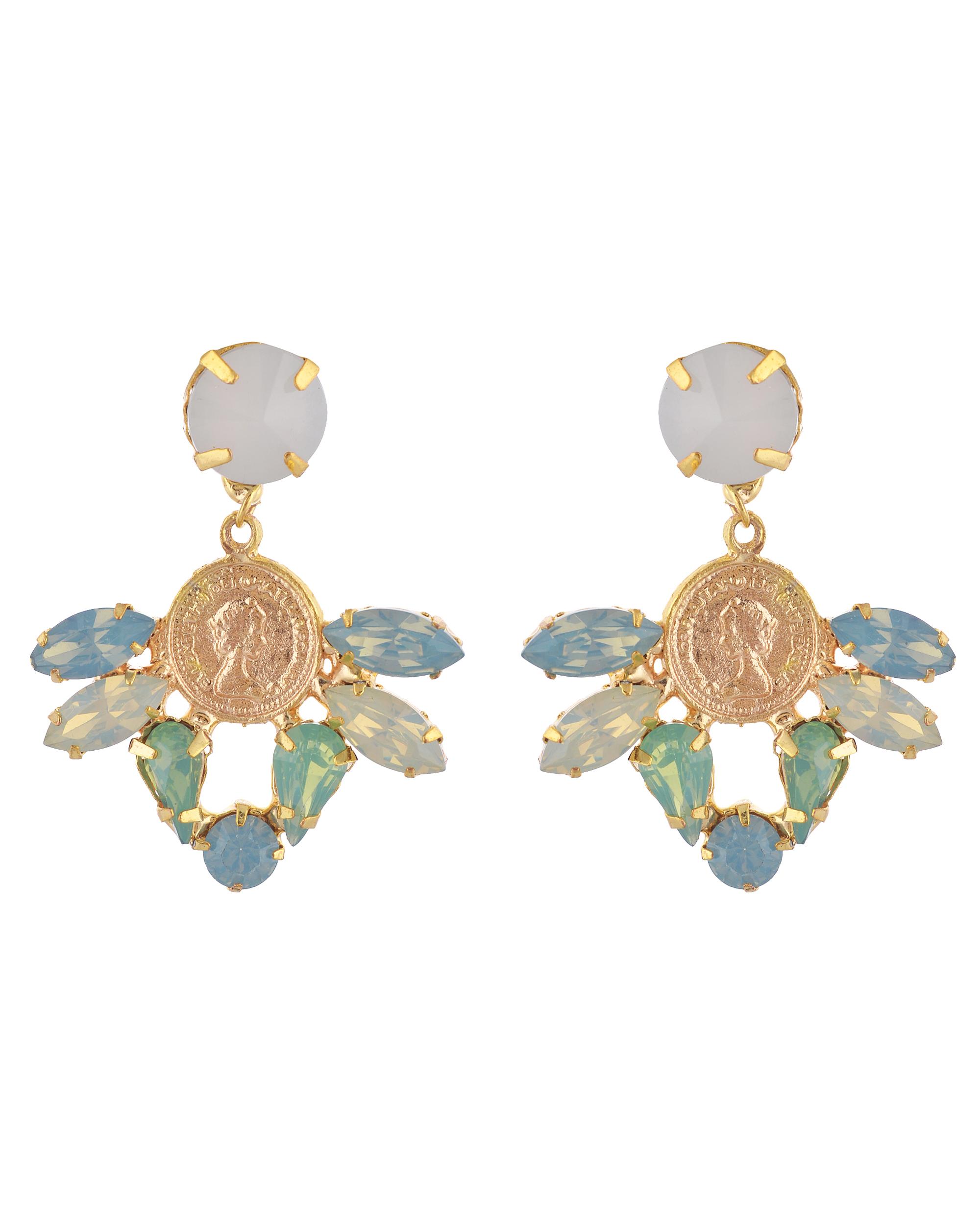 Aquamarine Vinatage Dangler Earrings