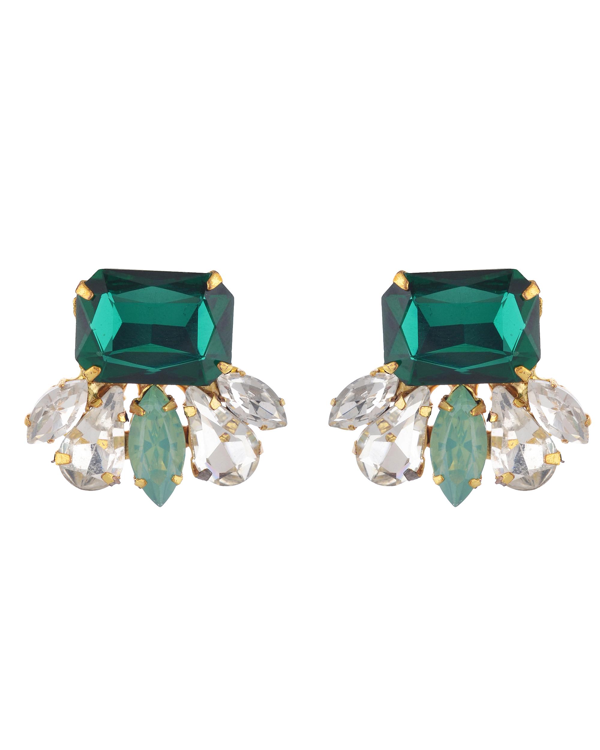 ebe3f0625 Emerald Green Swarovski Stud Earrings by Bella Vistas | The Secret Label