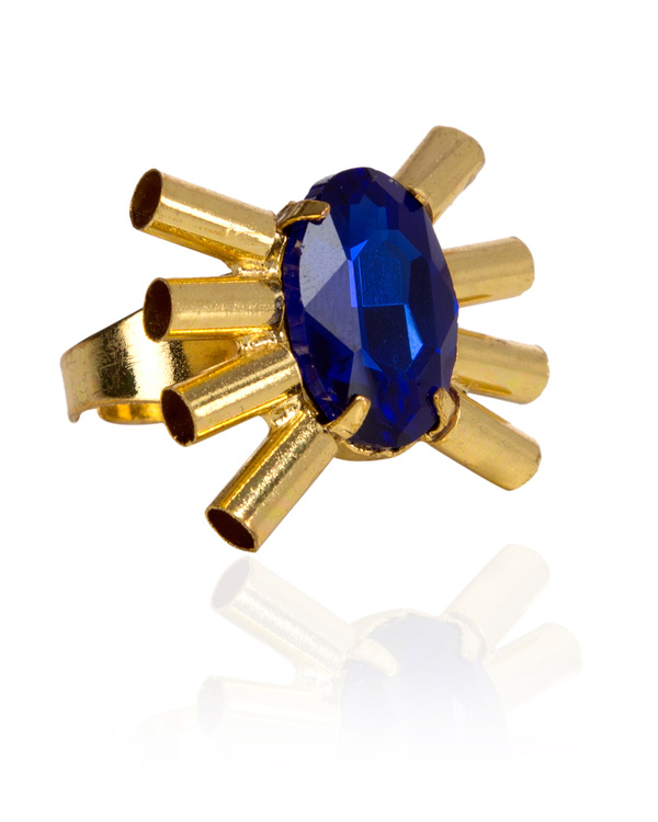 Blue Spike Designer Ring