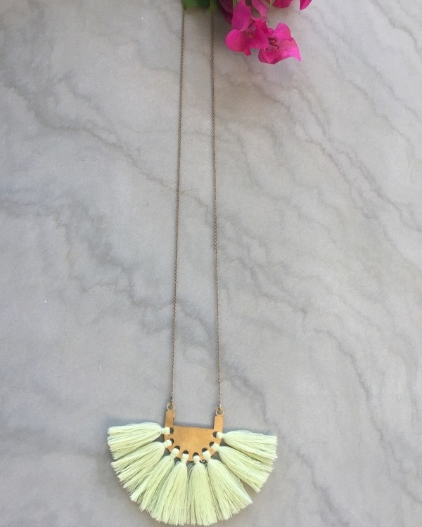 Blonde Yellow Tassel Neckpiece