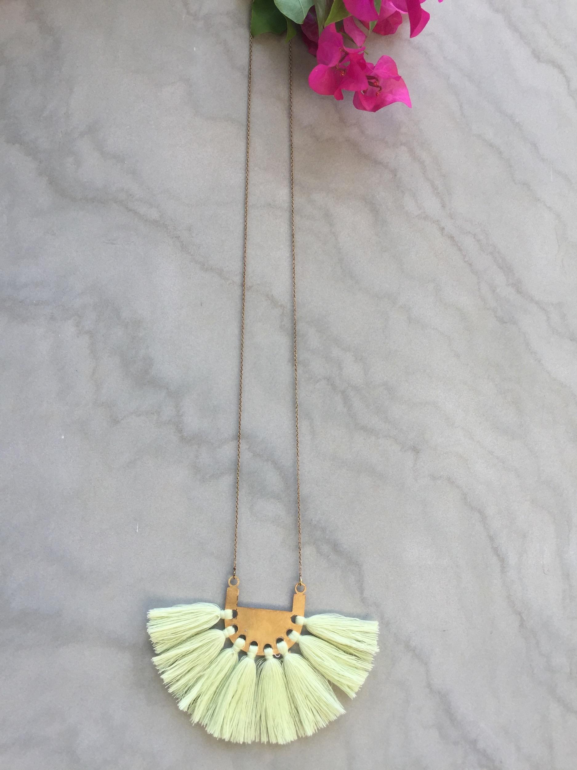 Blonde Yellow Tassel Neckpiece