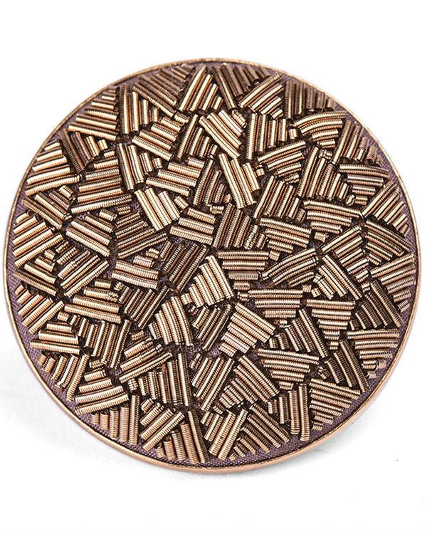 Gold Metal Wire Designer Ring