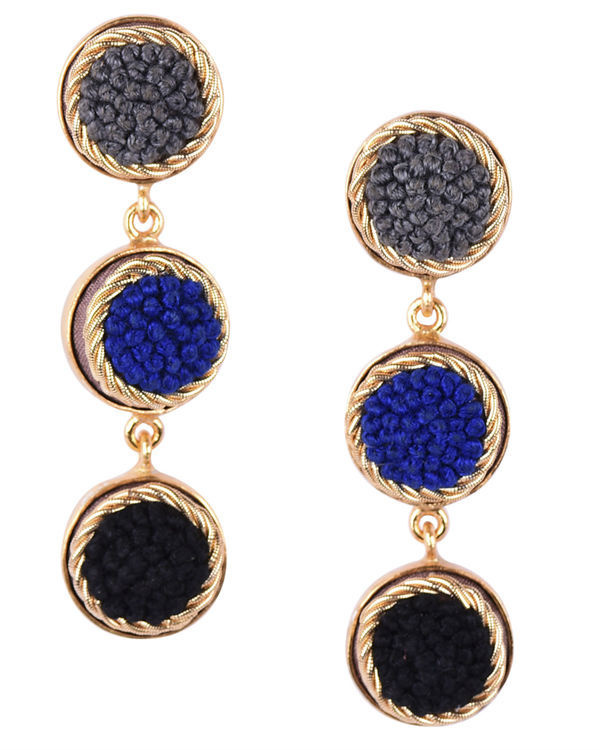 Royal Shades Gold Plated Earrings