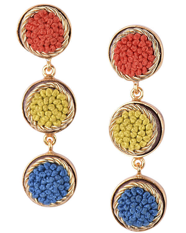 Elegant Shades Gold Plated Earrings