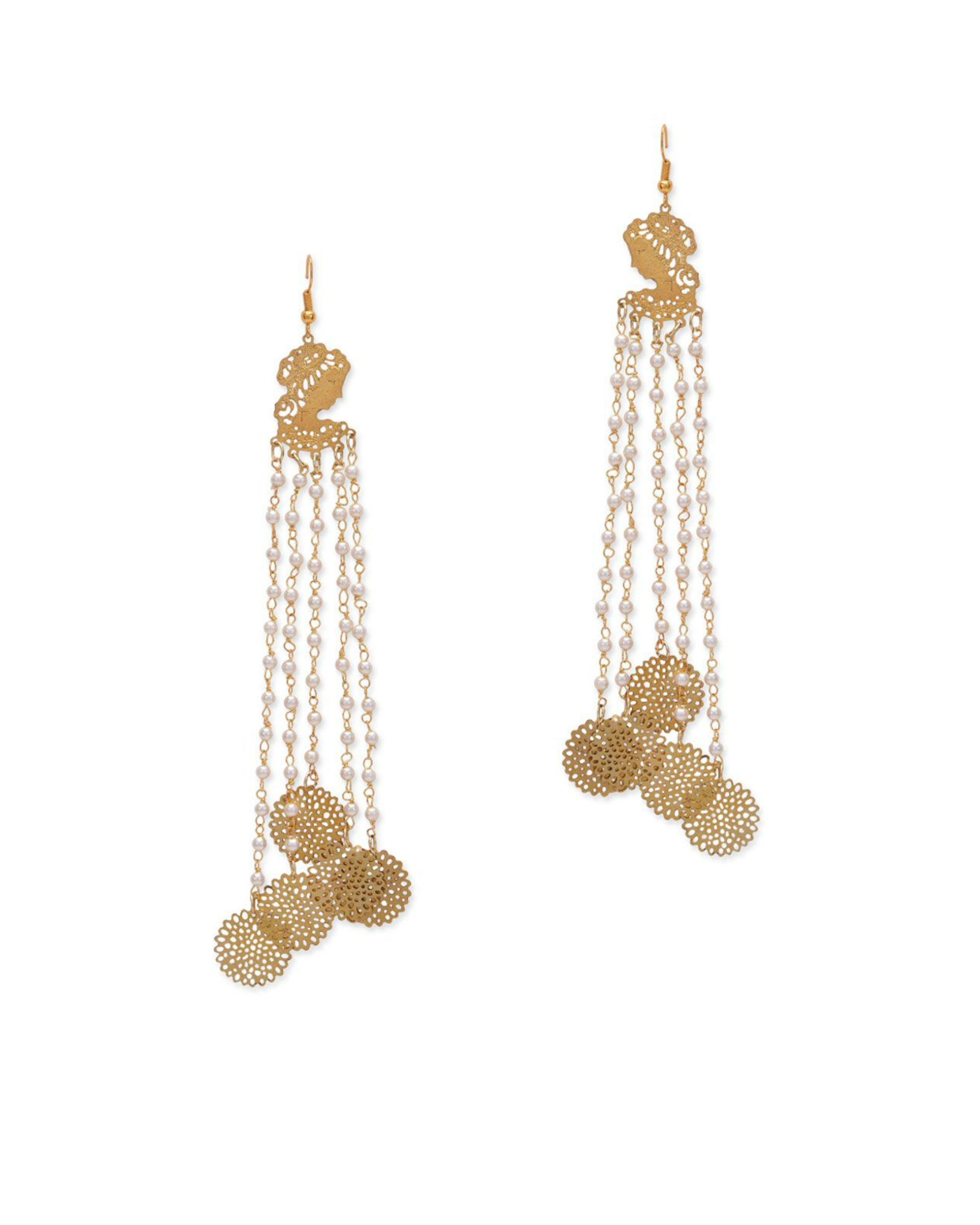 188865716 Zoya Filigree Long Earrings by Paisley Pop | The Secret Label