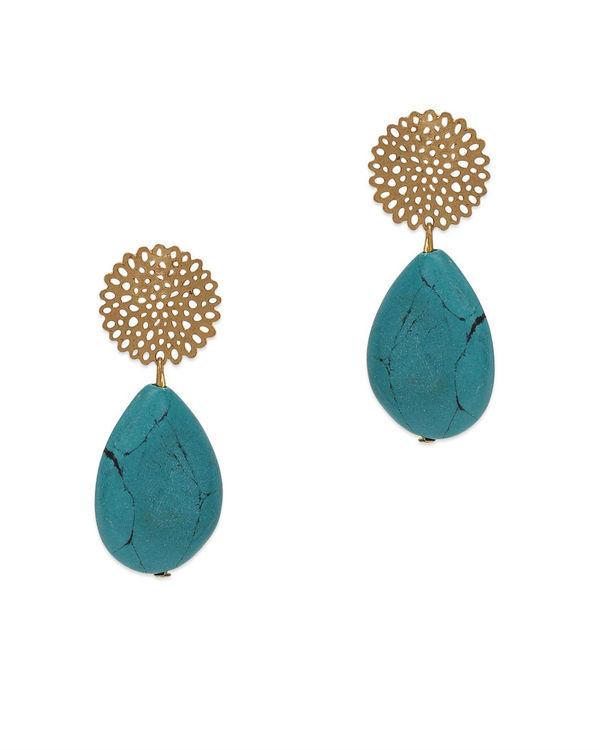 Rajvi Turquoise Filigree Studs