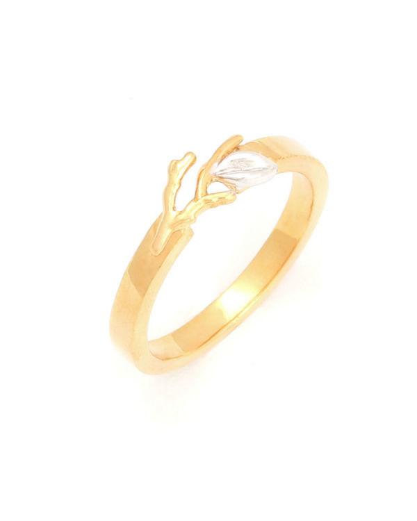 Soft Sapling Ring