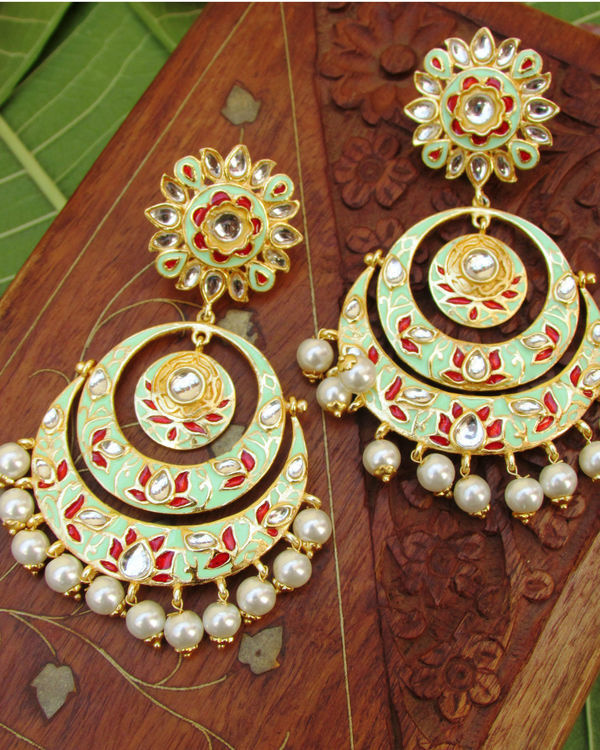 Green Lotus Earring