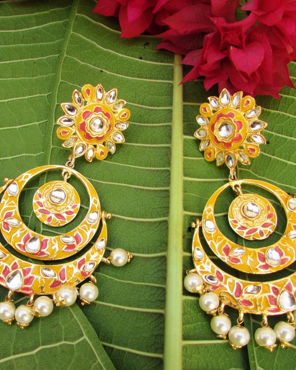 Yellow Lotus Earring