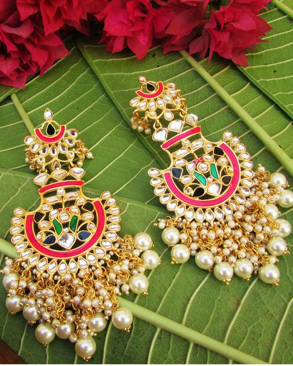 Multicolour Pearl Earrings
