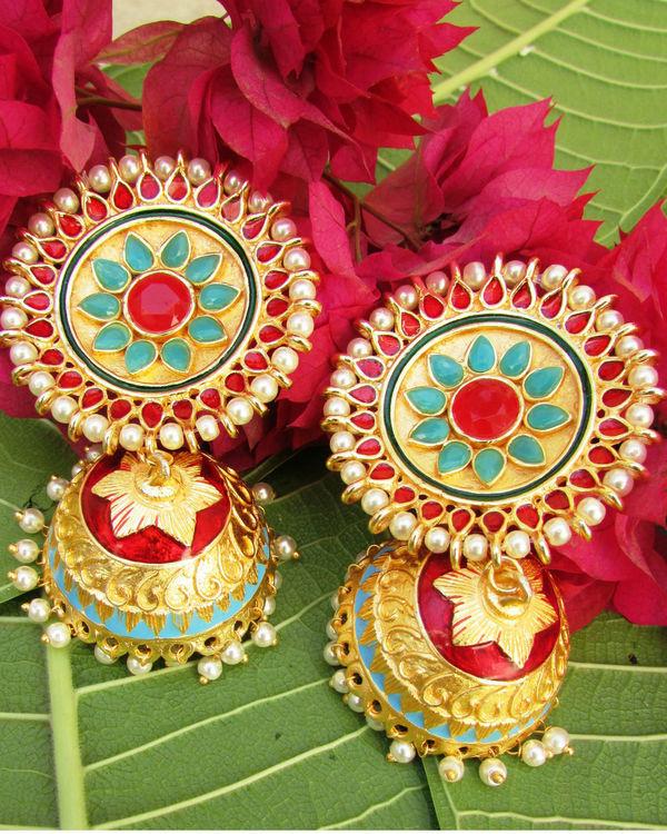 Multicolour Pearl Jhumki