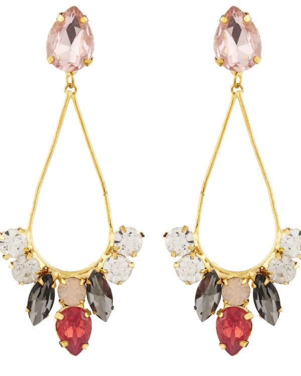 Crystal Pastal Dew Drop Earrings