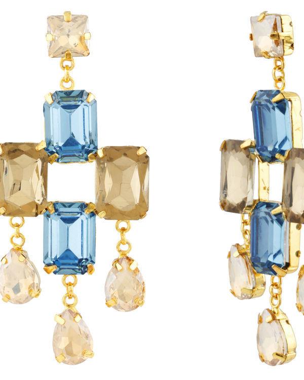 Goldmist Sapphire Earrings