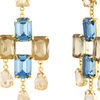 Thumb goldmist blue and gold earrings for women
