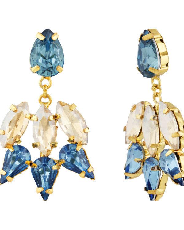 Blue and Gold Garner Earrings