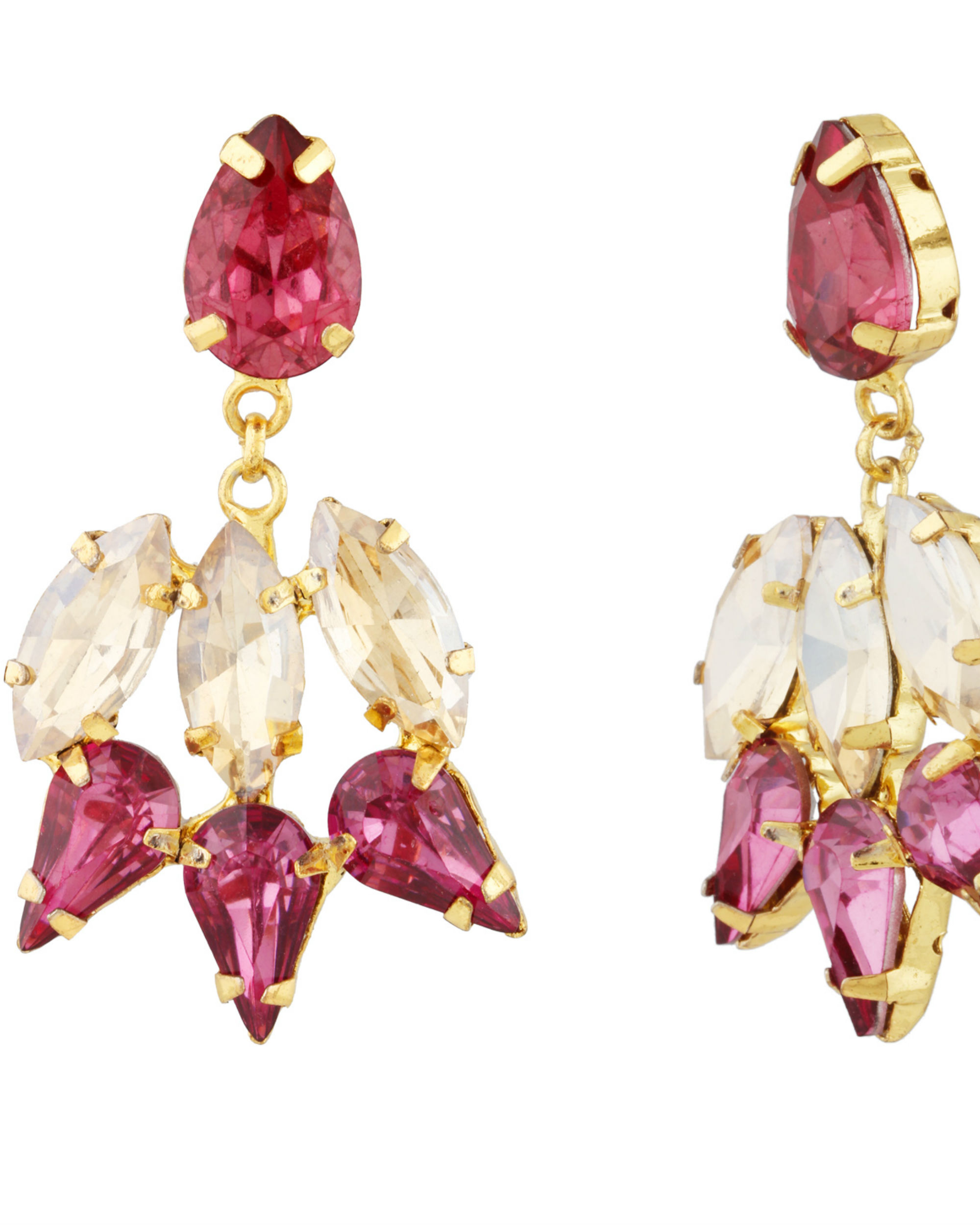 Pink and Gold Garner Earrings