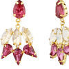 Thumb pink garner earrings for women
