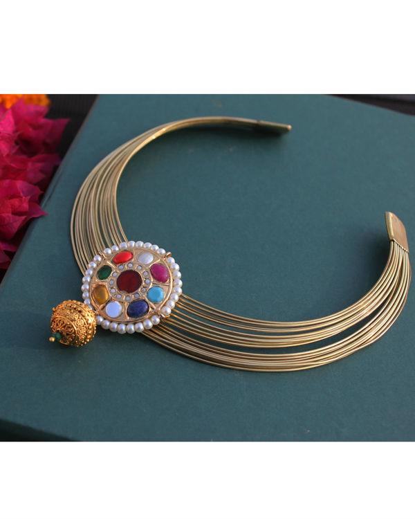 Aadharika Navrattan choker necklace