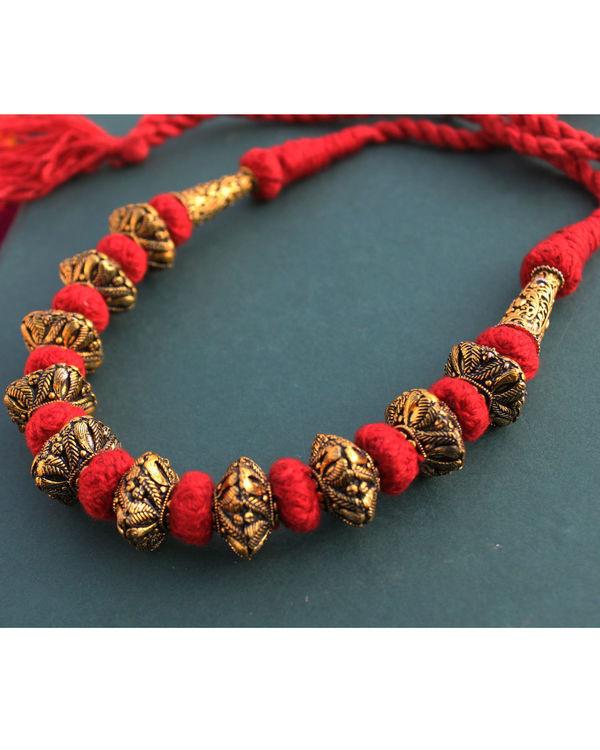 Gaurang Gheru red necklace