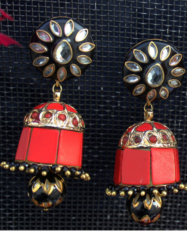 Sia black and red jhumka