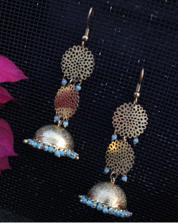 Sohaila turquoise filigree jhumki