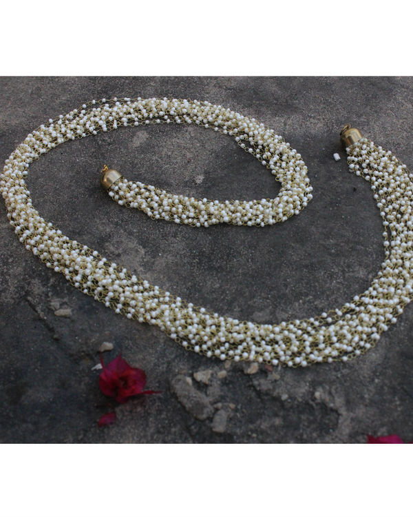 Aruna pearls multistrand long necklace