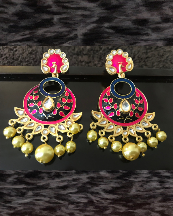 Crescent Peacock Earrings