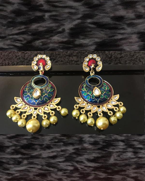 Green Crescent Earrings