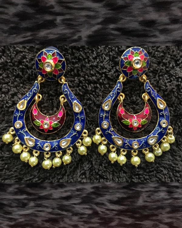 Blue Tiered Earrings