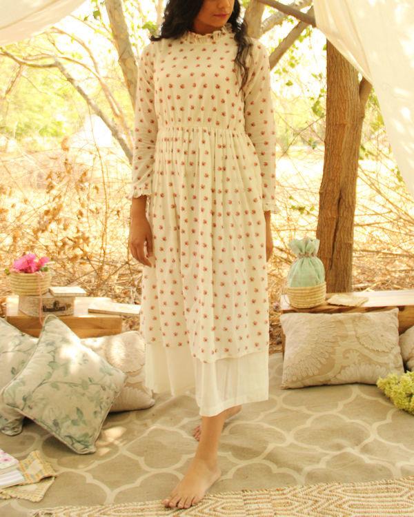 White Floral Chalk Dress