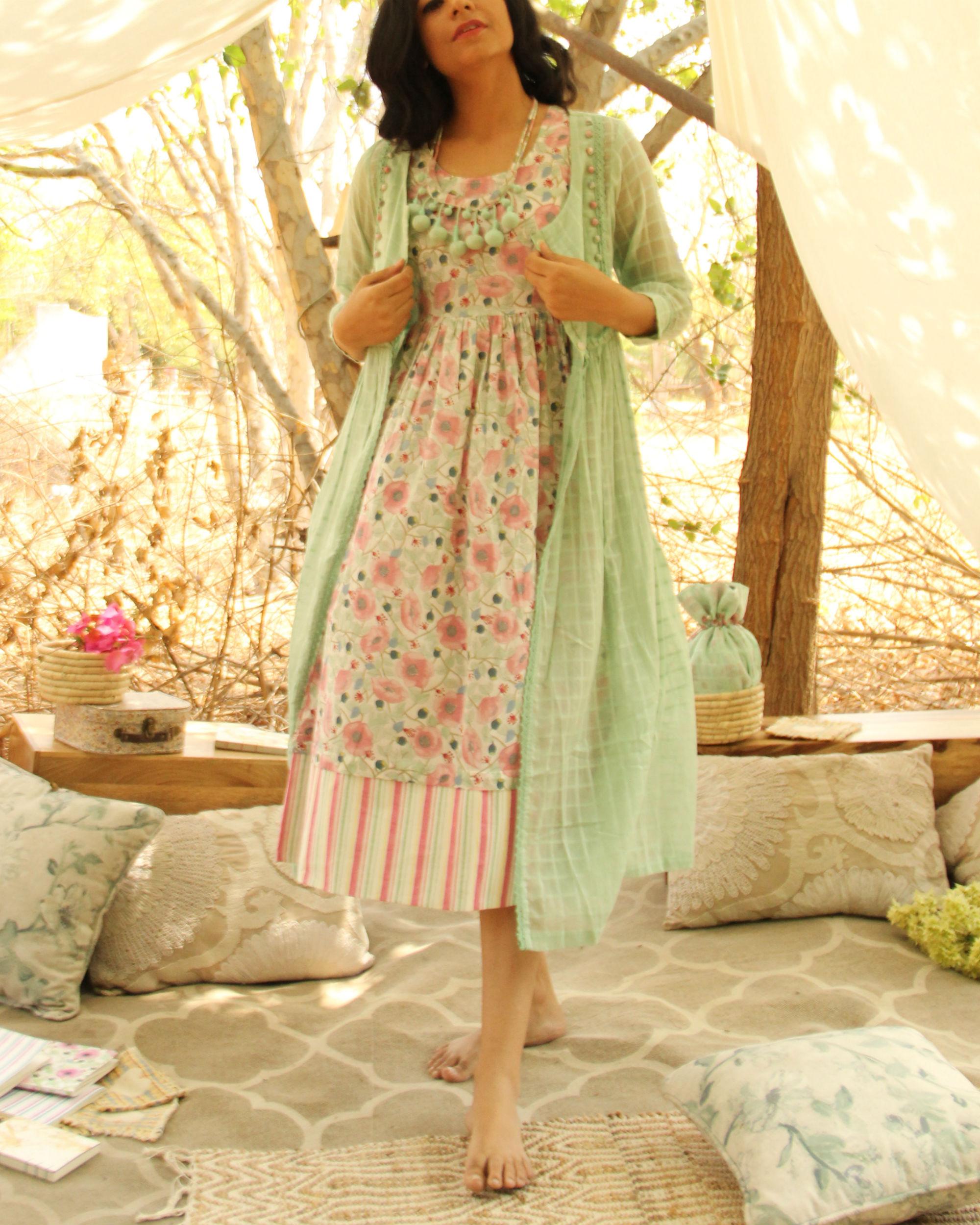 Poppy Mint Green Jacket Dress