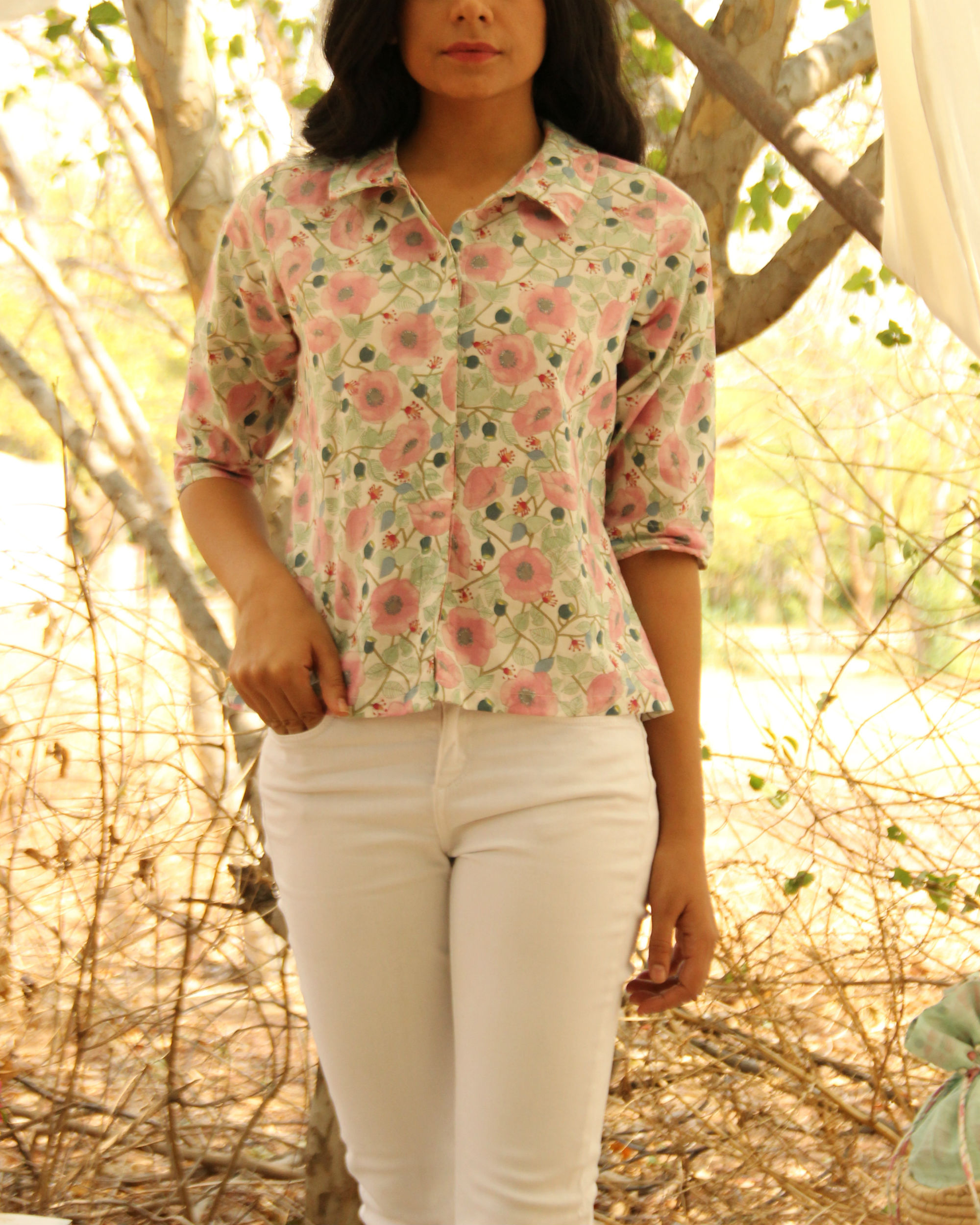 Mint Bouquet Shirt