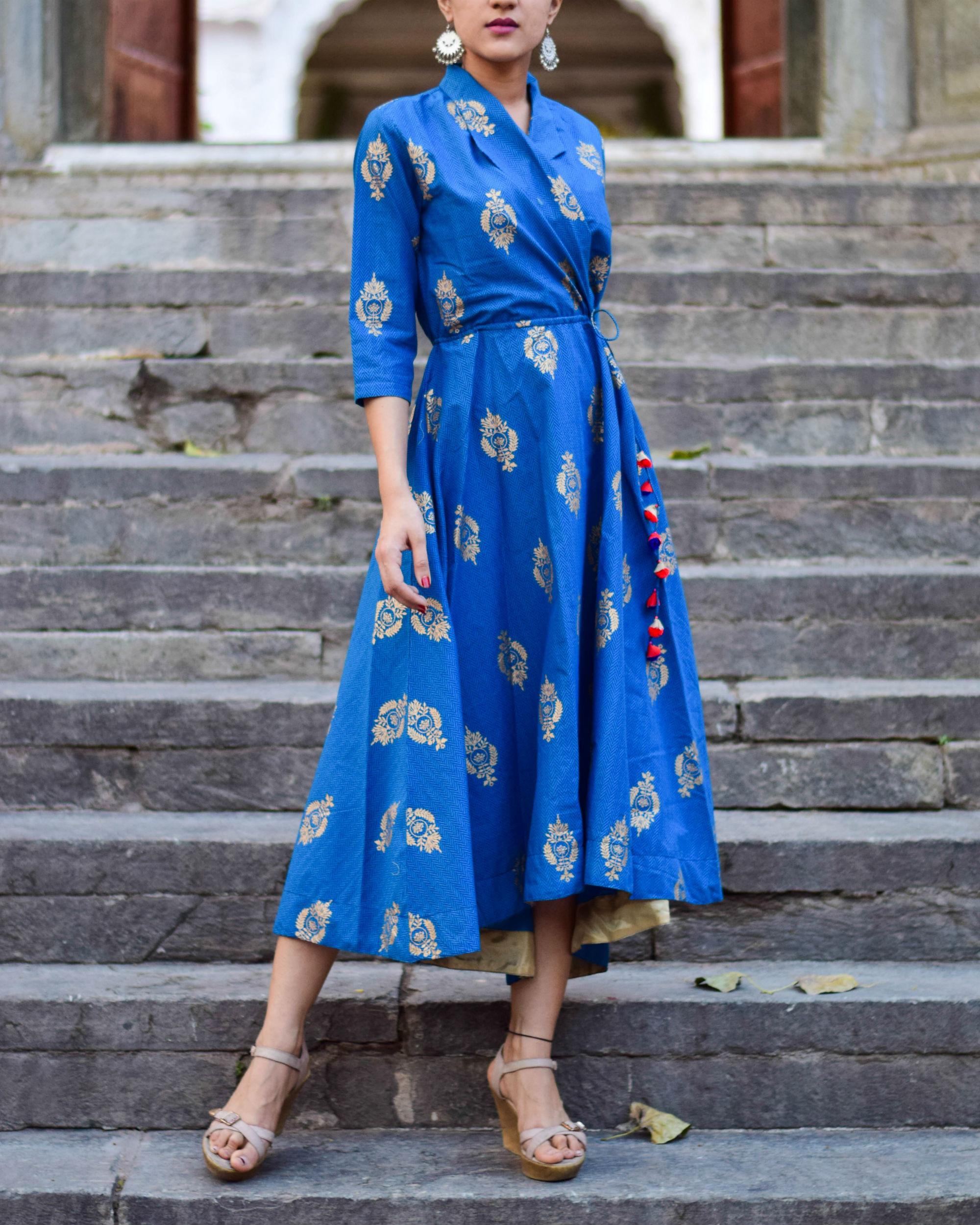 Royal Blue Wrap Dress