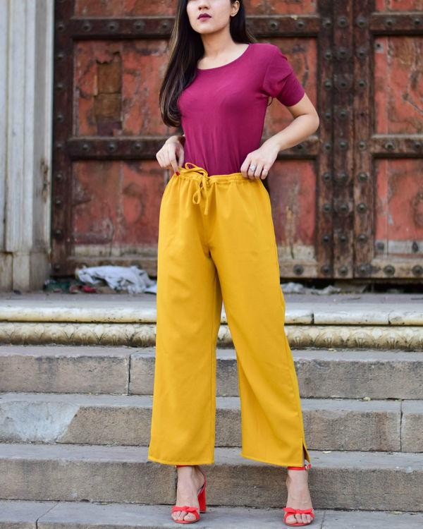 Plain Mustard Pants