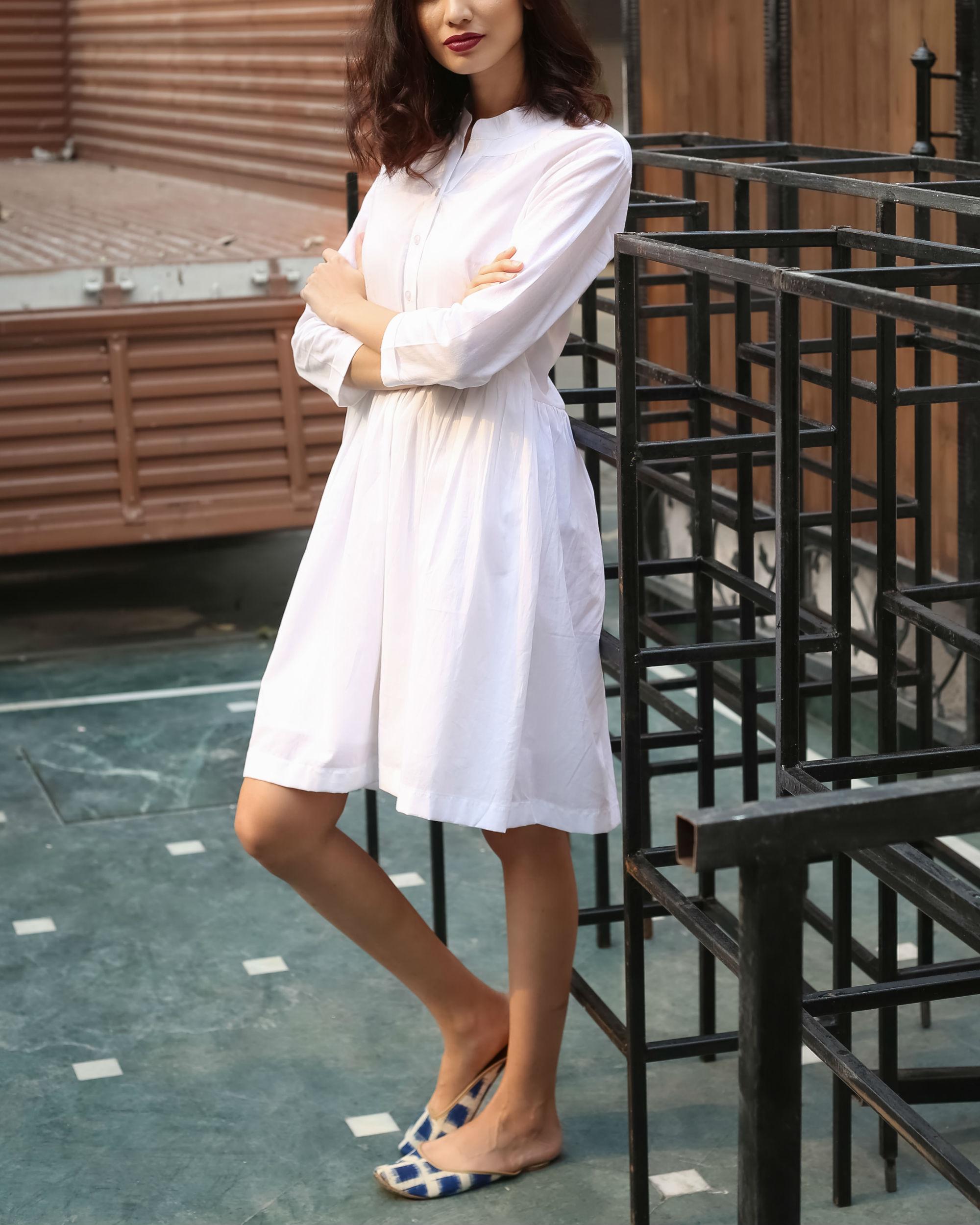 Plain White Summer Dress