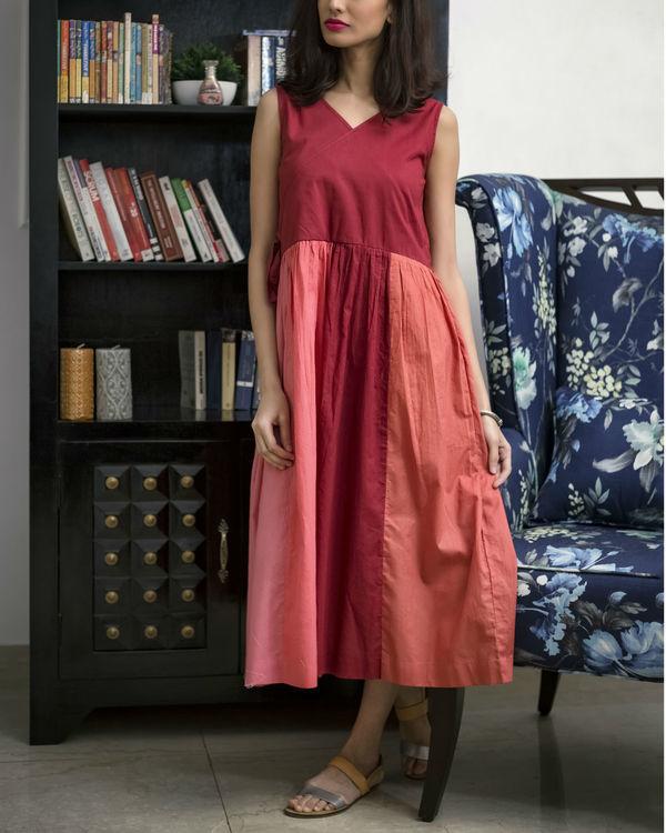 Multi Shade Red Summer Dress