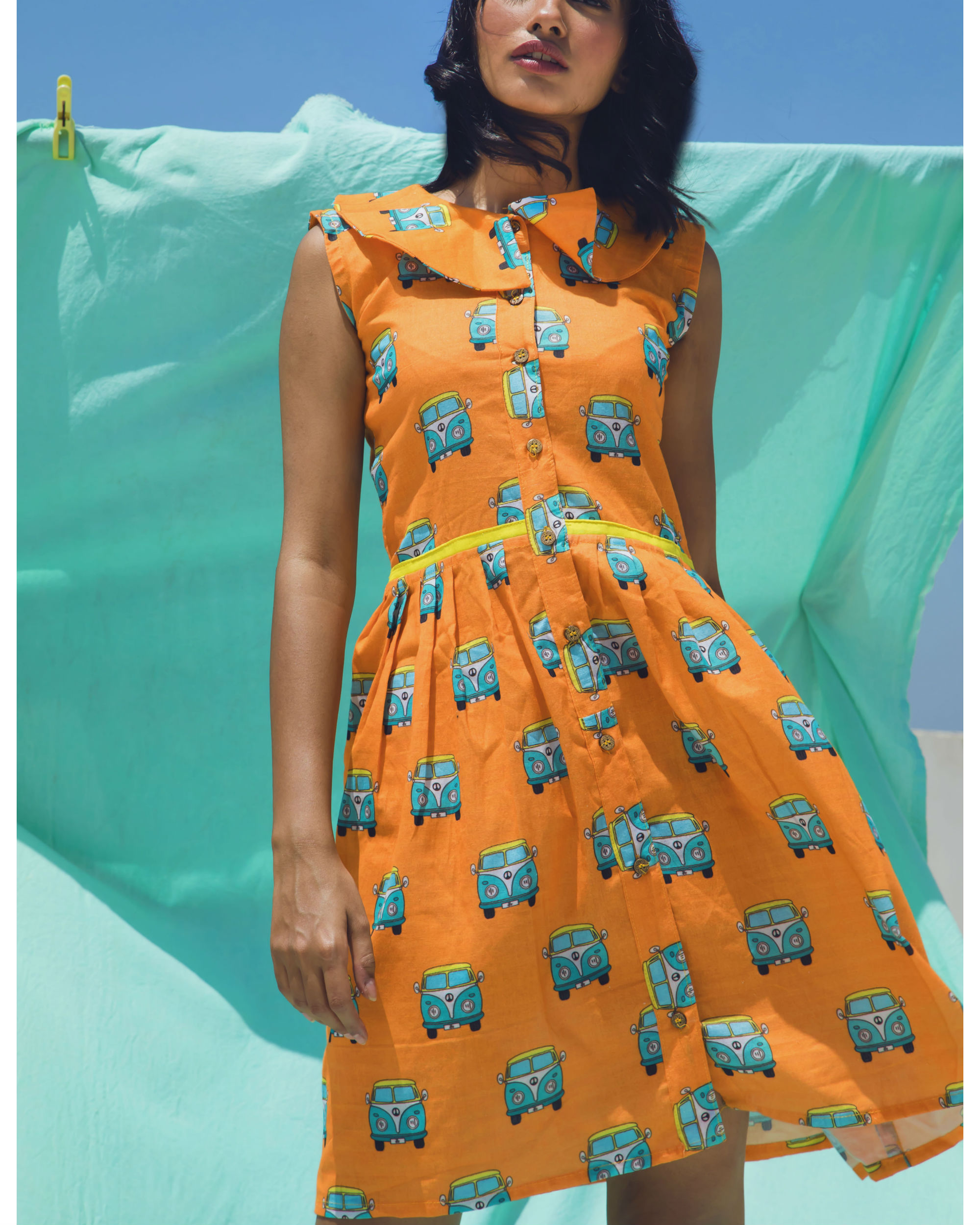 Orange van dress