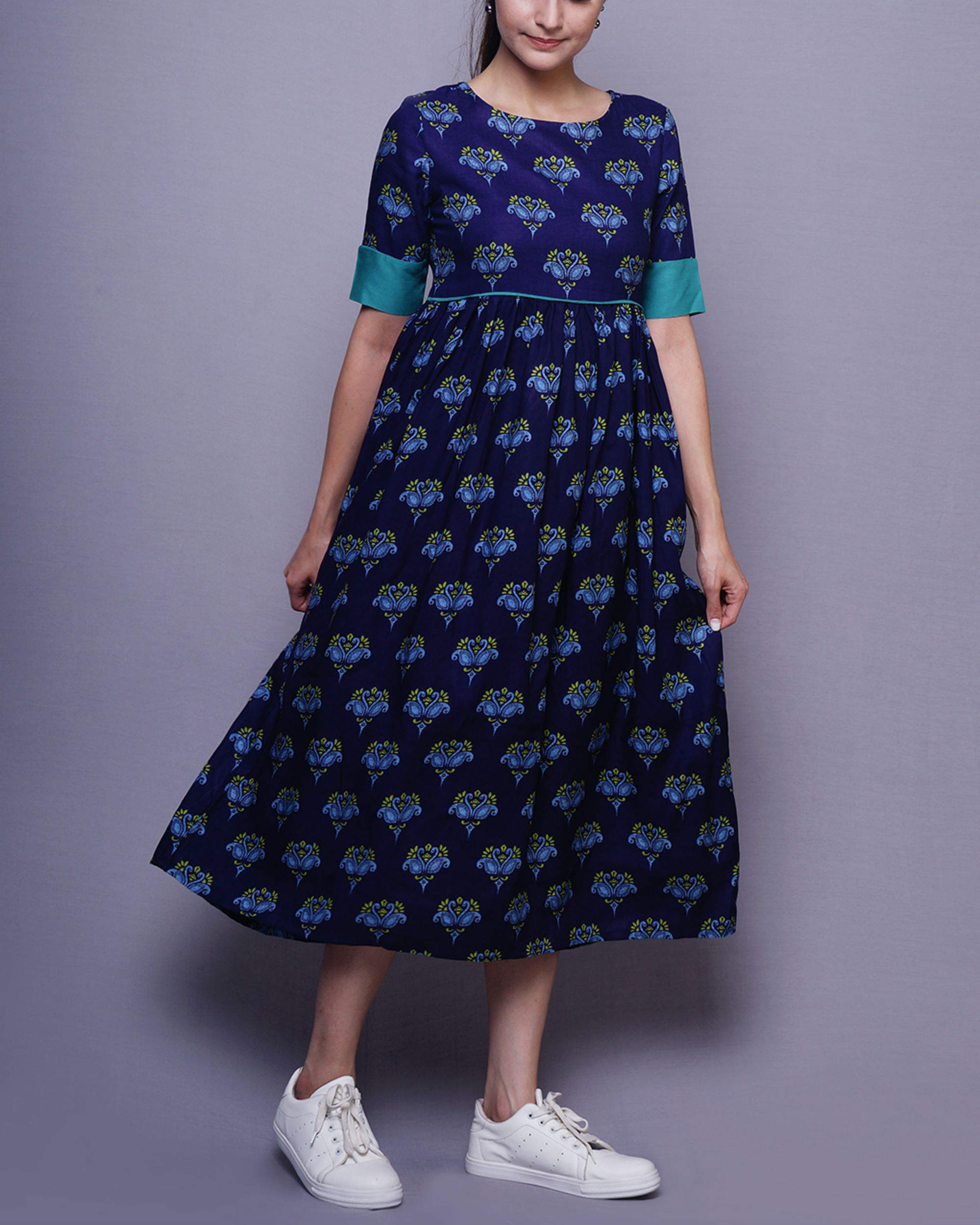 Blue swan dress